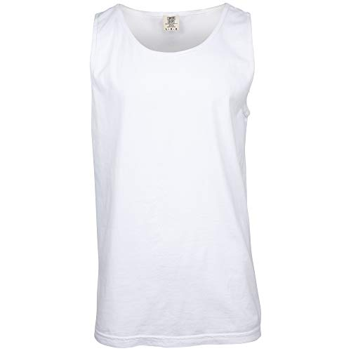 Comfort Colors Men's Adult Tank Top, Style 9360, White, Large