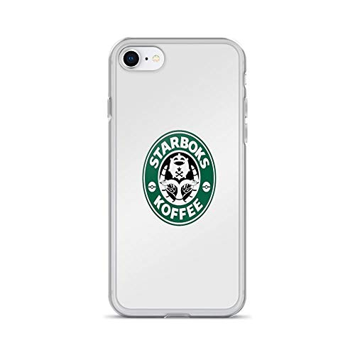 iPhone 7 Case iPhone 8 Case Clear Anti-Scratch Starboks Koffee, Caffeine Cover Phone Cases for iPhone 7/iPhone 8, Crystal Clear