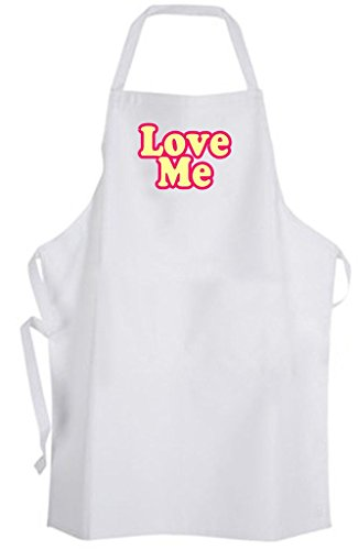 Love Me – Adult Size Apron - Quote Saying Dating Relationship Wedding by Aprons365