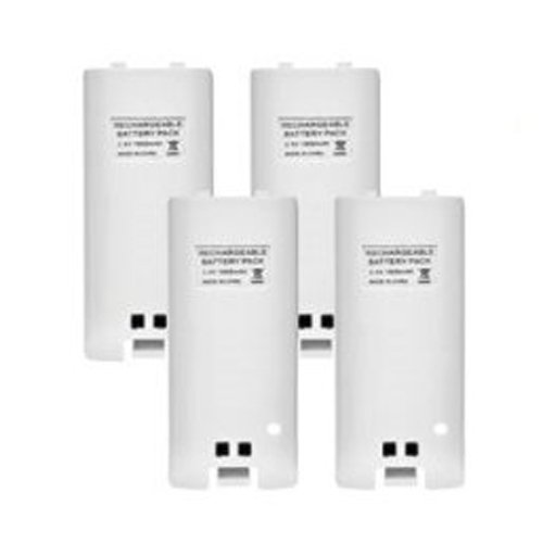 TOOGOO(R) 4 x Rechargeable Battery and Quad 4 Charger Dock Station Kit for Wii Remote Controller ()