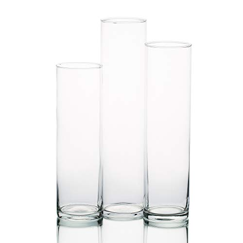 - Eastland Tall Cylinder Vases Set of 3