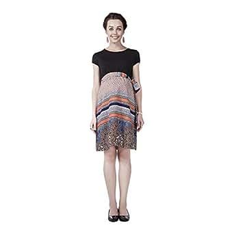 House of Napius Fashionable Peach Maternity Dress, Extra Large