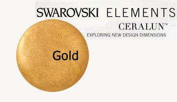 - Swarovski Ceralun Ceramic Composite, Gold 2 X 50gram