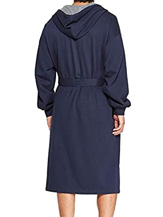 Hanes Mens Athletic Fleece Hooded Robe One Size