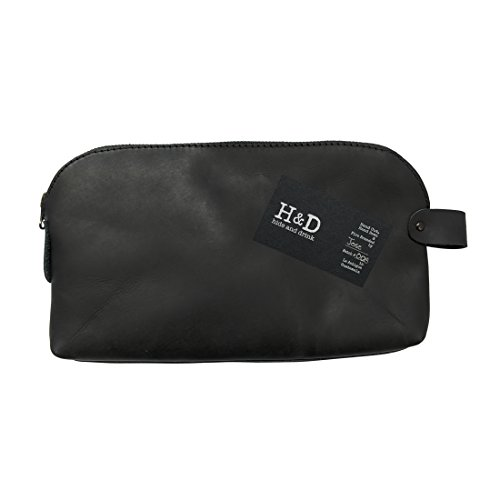 Large All Purpose Utility Bag (Cords, Chargers, Tools, School / Office Supplies) Handmade by Hide & Drink :: Charcoal Black