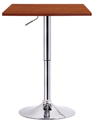 Boraam 99630 Luta Adjustable Pub Table, Walnut