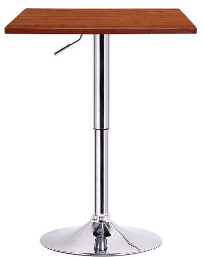 Boraam 99630 Luta Adjustable Pub Table, (Top Leather Pub Chair)
