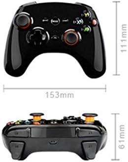 XHMCDZ 無線コントローラー、PCのビデオゲームのための人間工学的の再充電可能なジョイパッド (Color : White)