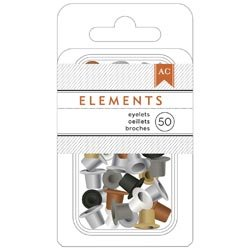 Bulk Buy: American Crafts  Elements Eyelets .1875in. 50/Pkg