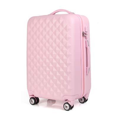 Reclain 20/24 インチ ABS 女子学生スピナートロリーケース子トラベルビジネス荷物コンビネーションロックスーツケース女性搭乗ボックス B07QSV225M ピンク 20\