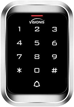 GessTech 868153 Standalone Touch Keypad+RFID Reader Wiegand26 IP65 Standalone Access Control Professional Keypad+RFID Reader 125KHz Wiegand 26 Illuminated Metal Case Indoor//Outdoor Weather-Resistant IP68