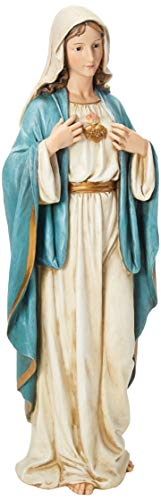 Renaissance Collection Joseph's Studio by Roman Exclusive Immaculate Heart of Mary Statue, 37-Inch (Catholic Images Of The Blessed Virgin Mary)