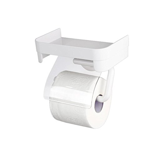 WXL Toilet Paper Rack Suction Cup Bathroom Tissue Box Waterproof Roll Paper Frame Suction Wall Type Free Punching WXLSF ()