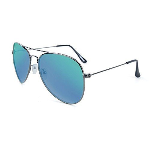 Knockaround Mile Highs Polarized Sunglasses, Gunmetal Frames/Green Moonshine - Cheap Sunglasses Knockaround