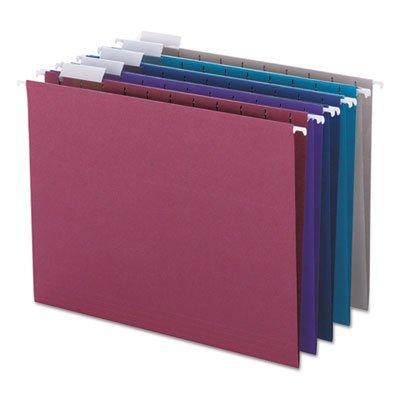 Designer Assortment Hanging Folders, 1/5 Tab, 11 Point Stock, Letter, 25/Box, Total 250 EA, Sold as 1 Carton