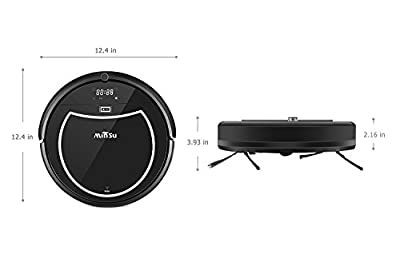 Robotic Vacuum Cleaner, Minsu 2000mAh Large Capacity Li-battery Smart Automatic Self-Charge Remote Control HEPA Filter Fit for Carpet Tile Hardwood Laminate Tangle-free Suction