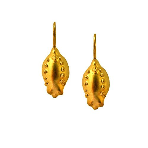 [Elegant Gold Drop Earrings For Women Unique Earrings Handmade 24K gold-plated Pomegranate Israeli Jewelry Unique Gifts For Her ChenFuchsJewelry Classic Earing Handmade Gold Jewelry Jewish Gifts] (Homemade Ancient Greek Costumes)