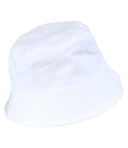 BabyPrem Baby Hat Sun Cap Boys Plain Summer Clothes 3-6 Months White