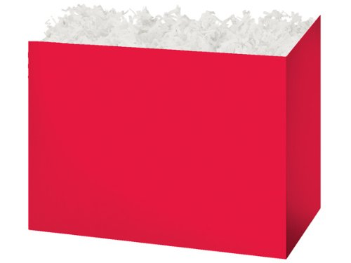 "CLEARANCE - Large 10 1/4""x6""x7.5"" Red Basket Boxes for Baker"