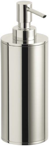 Soap Polished Nickel - Kohler K-14379-SN Purist Countertop Soap Dispenser, Vibrant Polished Nickel