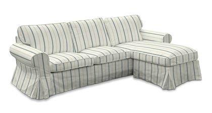 Funda para IKEA EKTORP 2 sofá con rayas azules en París ...