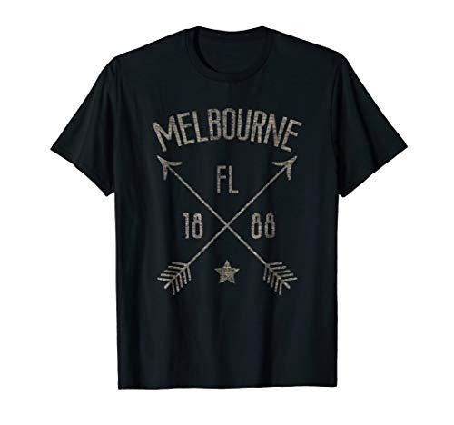 Melbourne FL T Shirt Distressed Boho Style Home ()