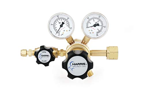 (Hydrogen and flammable specialty gas lab regulator, CGA 350, 2-stage, brass, 0-125 PSI)