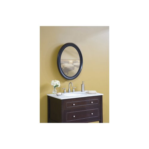 (Pegasus SP4602 Deco 29-Inch High by 23-1/4-Inch Wide Oval Framed Medicine Cabinet, Espresso)