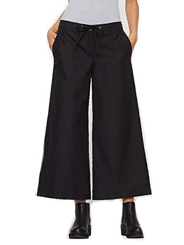 Eileen Fisher Organic Cotton Wide Leg Crop Pants M MSRP $178.00 Black