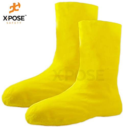 Hazmat Boot and Shoe Covers For Hazardous Materials - Explosives, Gases, Flammable Liquids, Peroxide and More - Large Yellow 12