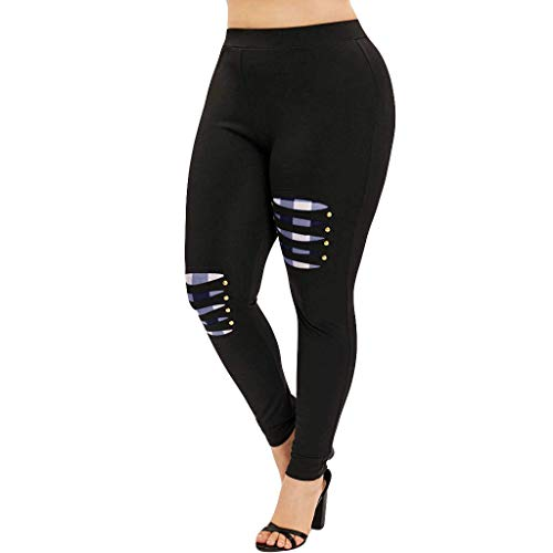 Mid Thigh Workout Shorts for Women, Red Yoga Pants for Women,Women High Waist Yoga Sport Casual Pants Plus Size Willow Spike Leggings Pants by PLENTOP (Image #3)