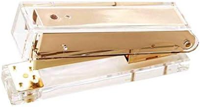 Luxury Rose Gold Manual Metal Acrylic Stapler 24//6 26//6 Include 1000pcs
