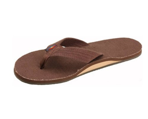 Rainbow Sandals Women's Single Layer Hemp, Brown, Ladies Large / 7.5-8.5 B(M) US ()