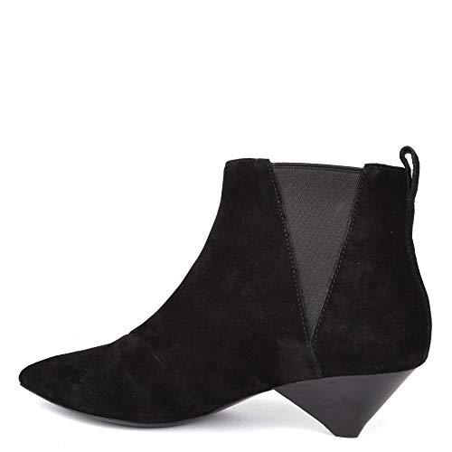 Cosmos Noires Bottes Bottines Ash Footwear Daim en Noir Femme ZwxqZzpH