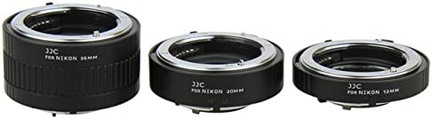 JJC AET-NS 12//20//36mm Auto Focus AF Macro Extension Tube Set for Nikon DSLR Camera
