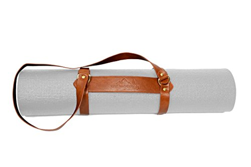 Vegan Leather Yoga Mat Carrier Sling / Adjustable Blanket Strap