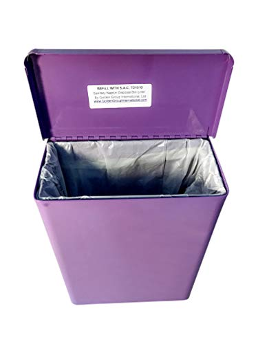 "(Sanitary Napkin Receptacle, Surface Mount, Steel, 1 gal, Measures: 7 ½ "" w x 9 3/4 "" H x 4"" D (Lavender))"