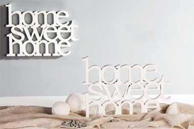 Wall Letters, Wall Decor, Wall Art   Home Sweet Home   White Antique Finish