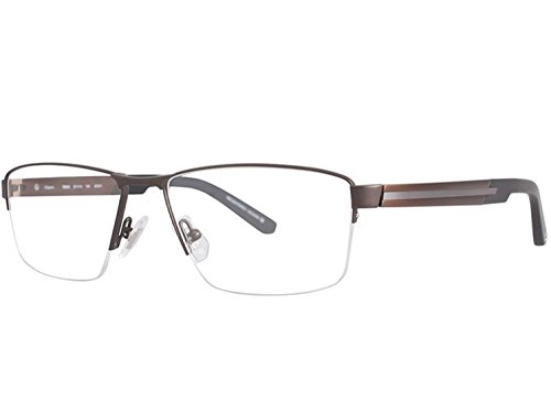 OGA MOREL Eyeglasses France Tanger ALUMINIUM 7956 57mm-16mm-145mm (matte brown matte gunmetal / clear demo lens, one color)