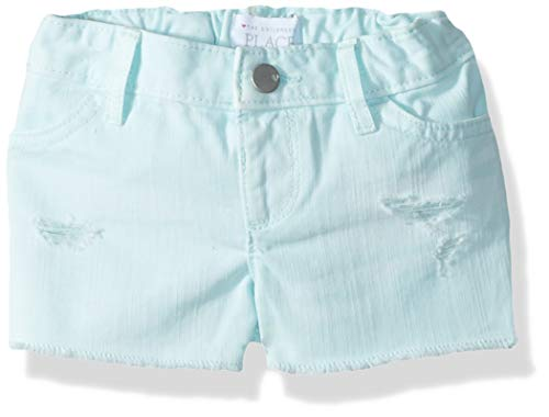 - The Children's Place Baby Girls Denim Shorts, Blue Coral, 18-24MONTH