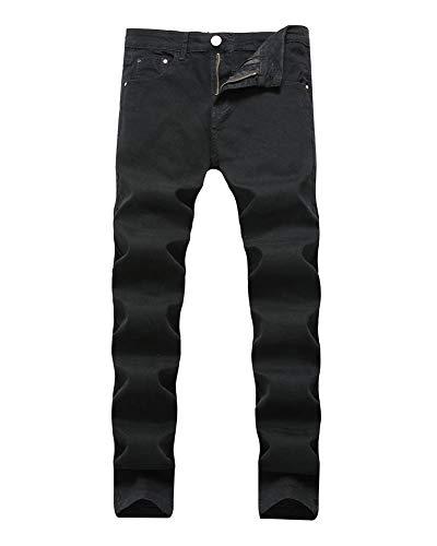 Slim Uomo Guiran Jeans Pantaloni 818nero Skinny Da 577 Lunghi Denim ZOXTikPu