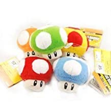 "Super Mario Bros Mushroom 2.5"" Plush Doll Figure -5Pc"