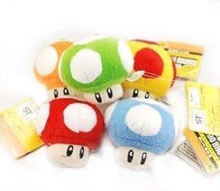 Super Mario Bros Mushroom 2 5 Plush Doll Figure 5pc B00bg4ij0c