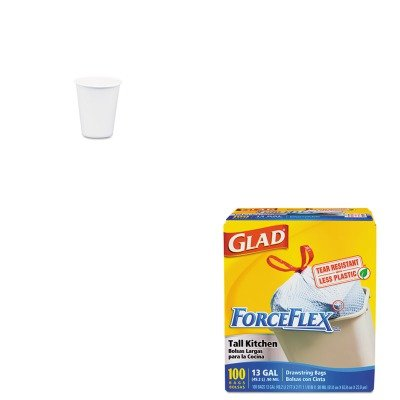 KITCOX70427SLO44CT - Value Kit - Solo White Paper Water Cups (SLO44CT) and Glad ForceFlex Tall-Kitchen Drawstring Bags (COX70427)