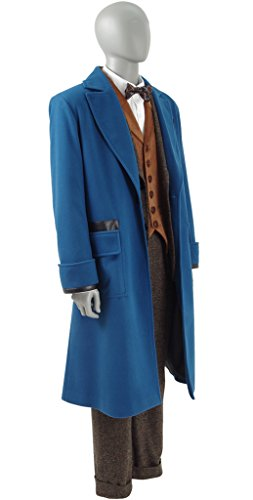Xiao Maomi Mens Cosplay Costume Blue Overcoat Winter Suits Blazer Trench Coat (Man-M, Full Set) by Xiao Maomi (Image #1)'