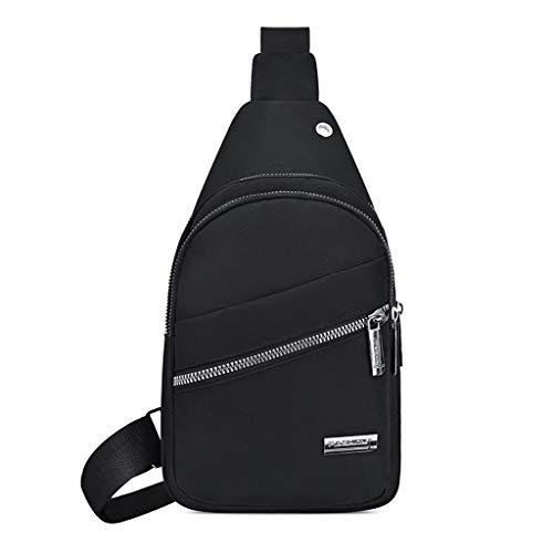 Vielgluck Oxford Sling Bag, Plaid Chest Bag Wild Crossbody Bag Fashion Shoulder Bag Ligtwight Package Travel Sport for Men ()
