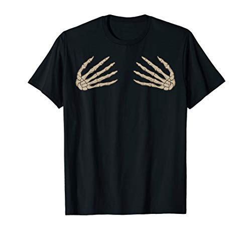 Halloween Skeleton Hand Bra Costume Shirt Cute Spooky Gift