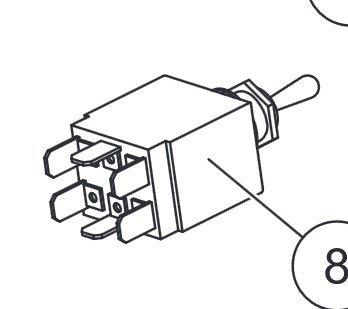 Amazon.com: Western SnowEx Part # 53845K - 6 Prong Plow Light Switch on