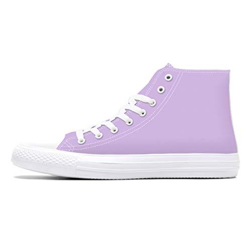 Mens Hombre Zapatos Primavera Lona Púrpura Sólidos Hombres Alta U60qwCU