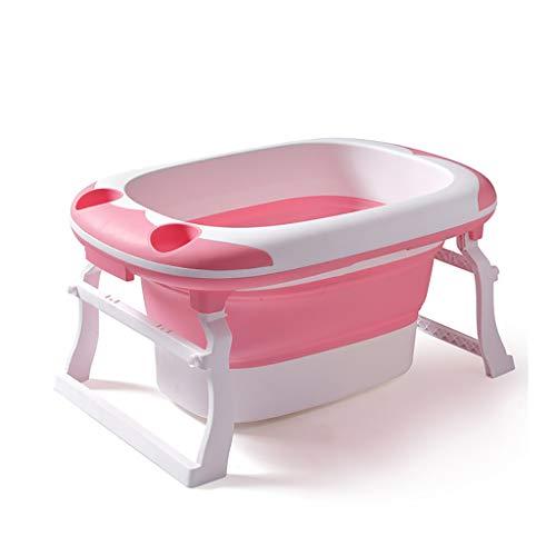 NUBAOgy Bañera Para Bebés, Bañera Plegable Portátil, Alfombrilla Antideslizante, Plato De Ducha Plegable, Cómoda Bañera...